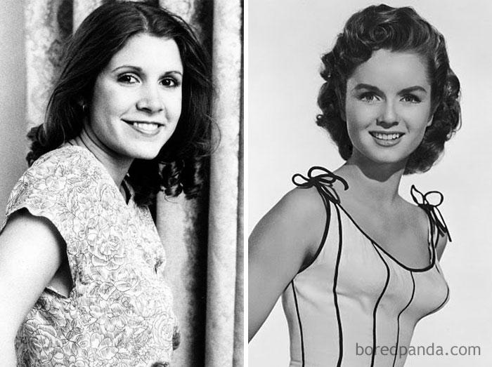 Carrie Fisher And Debbie Reynolds At Age 21
