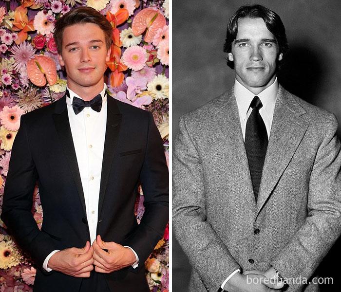 Patrick Schwarzenegger And Arnold Schwarzenegger At Age 23