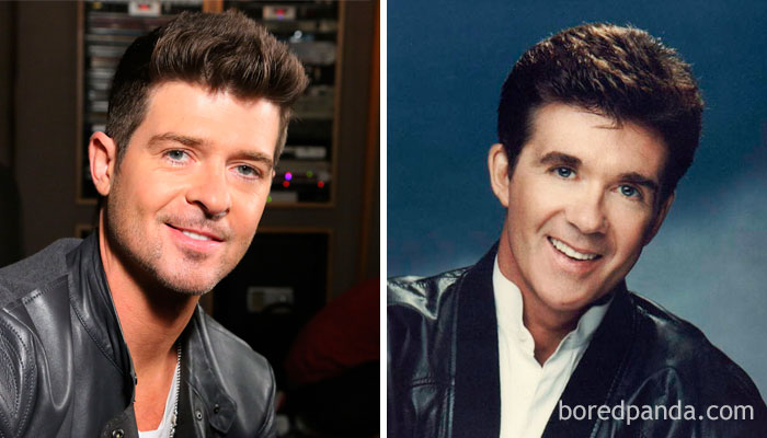 Robin Thicke And Alan Thicke In Their 30s
