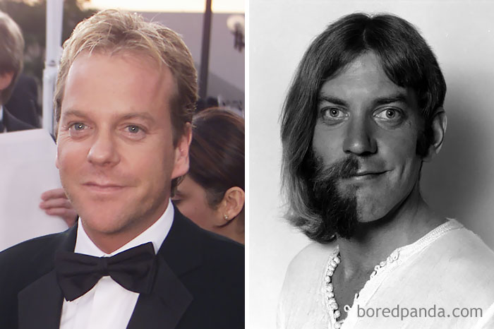 Kiefer Sutherland And Donald Sutherland At Age 35