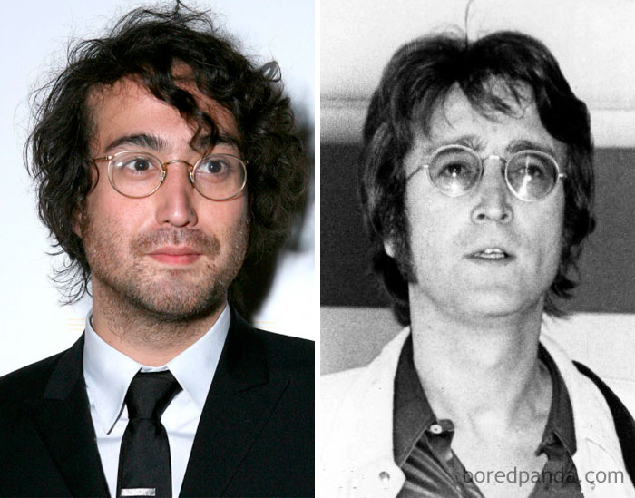 Sean Lennon And John Lennon At Age 31