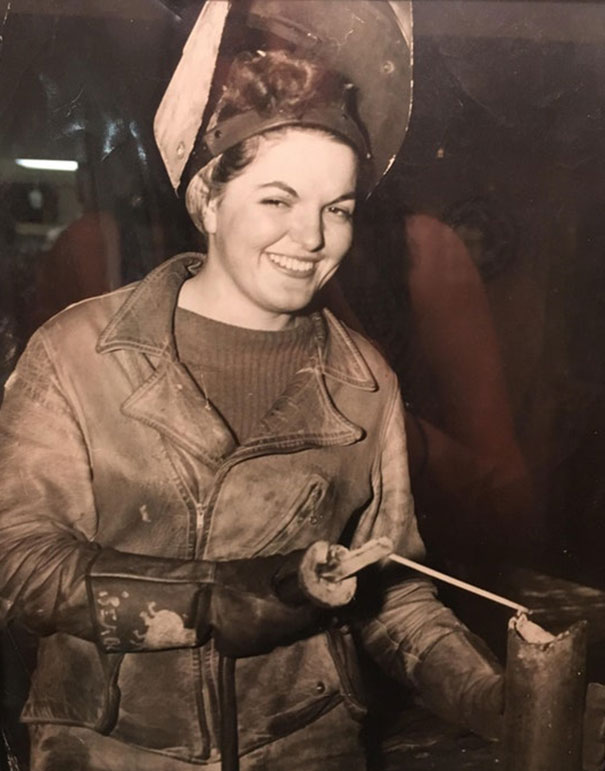 My Great Grandmother, Working As A Welder During WW2
