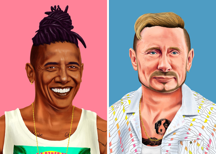 I Reimagine World's Greatest Leaders As Hipsters