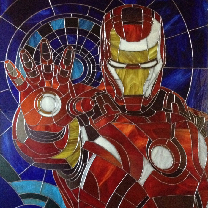 We Created Stained Glass Iron Man