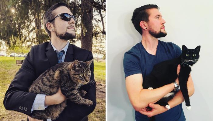 I Can't Have A Cat, So I Cuddle And Take A Pic With Every Cat I Meet