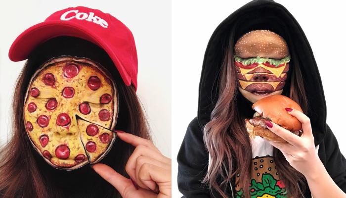 Woman Gives Up Teaching To Create Optical Illusions With Makeup And Her Food Series Is Making Us Hungry