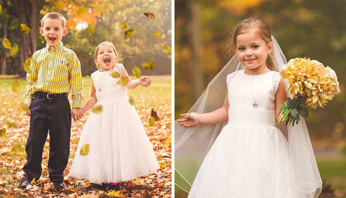 5-Year-Old Girl Wants To Marry Best Friend Before Her 4th Open Heart Surgery, So Parents Organize The Sweetest Photoshoot