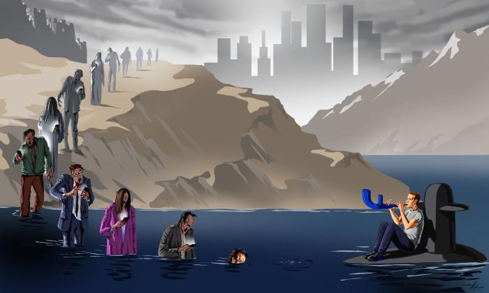 Ilustraciones satíricas de los problemas de hoy en día por Gunduz Agayev (nuevas imágenes)