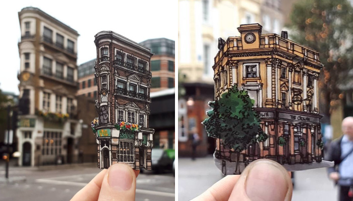 Before I Leave London I Decided To Sketch Some Of My Favourite Little Pubs Around Town