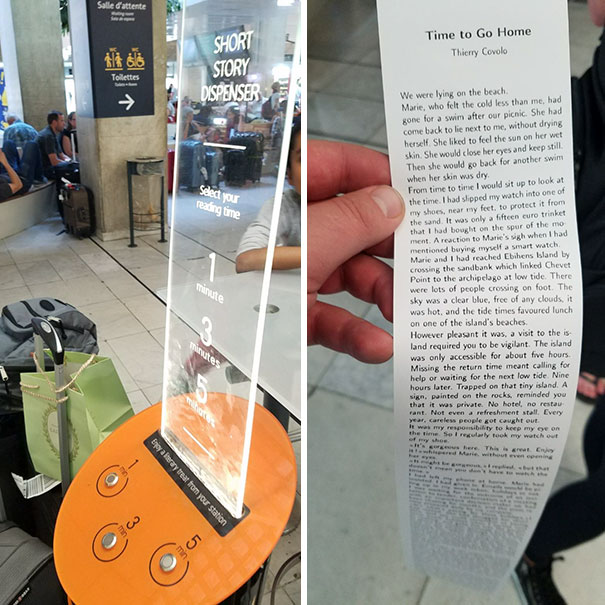 At This Airport, They Have A Machine That Will Print Off Free Short Stories For You To Read While You Wait