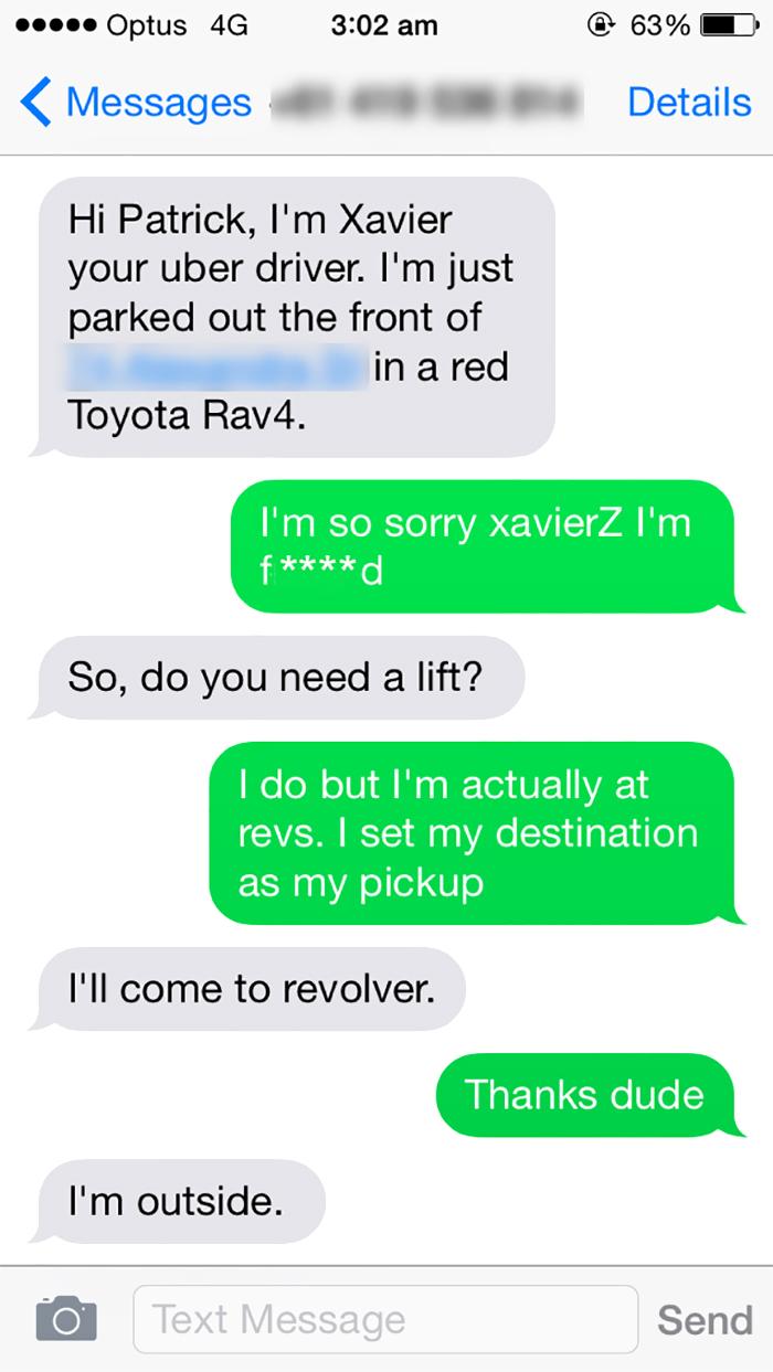 So I Got An Uber Last Night