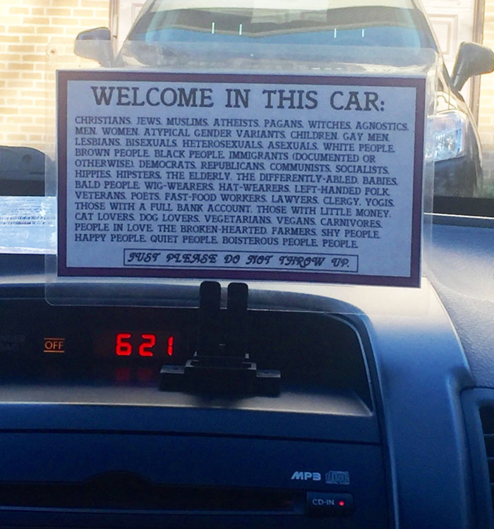Great Sign In An Uber Today