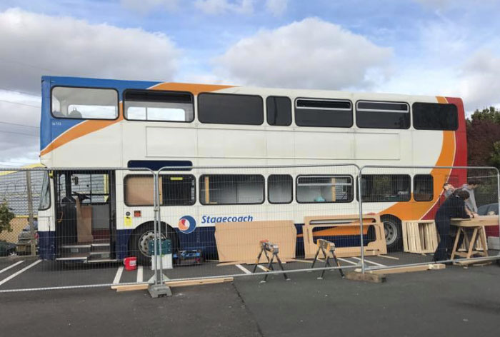 Woman Transforms Double-Decker Bus Into Shelter For Homeless, And Here's How It Looks From Inside