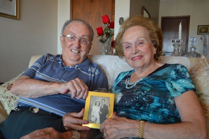 Mr. Milton Esteves, 94, And Mrs. Elza Falcone Esteves, 91, Celebrate 70 Years Of Marriage In Ribeirão Preto, Brazil.