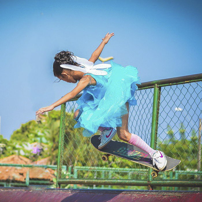 Little Brazilian Girl Goes Viral After Landing Unbelievable Tricks On Her Skateboard While Dressed As A Fairy Princess