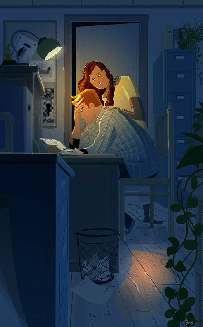 Husband Illustrates Everyday Life With His Wife Proves Love Is In - Husband turns everyday moments with his wife into heartwarming illustrations