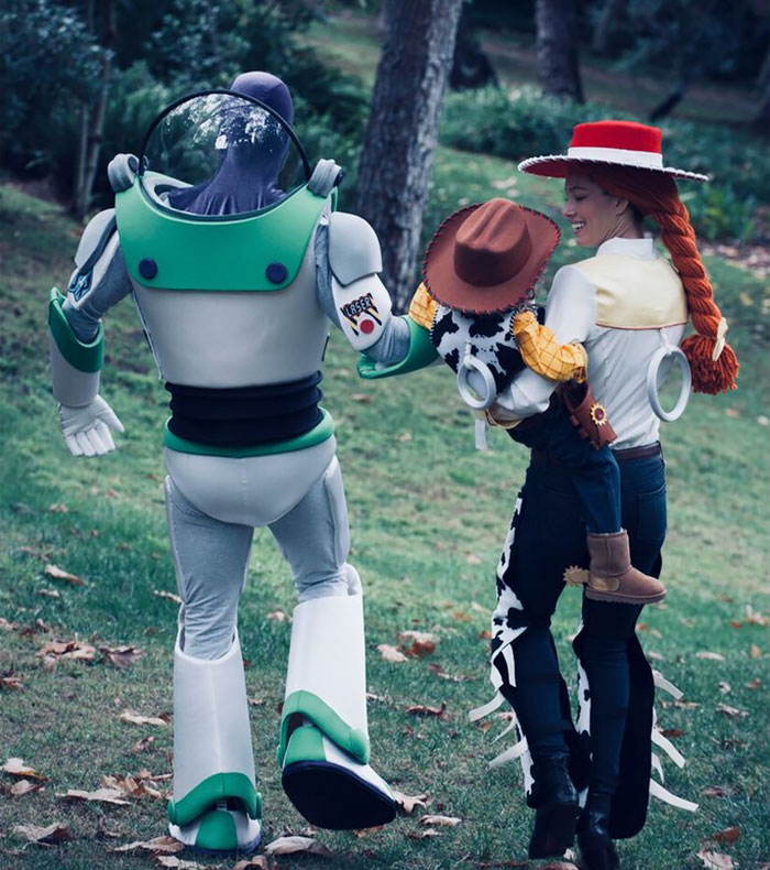 they proved it this halloween by choosing the most adorable family costume idea toy story stars