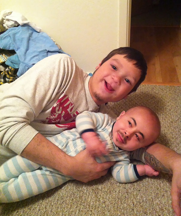 Talk About A Creepy Face Swap, My Brother And His Son