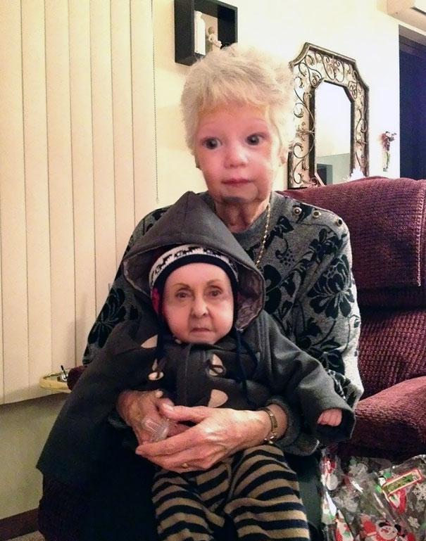 Grandma + Grandson = Creepy