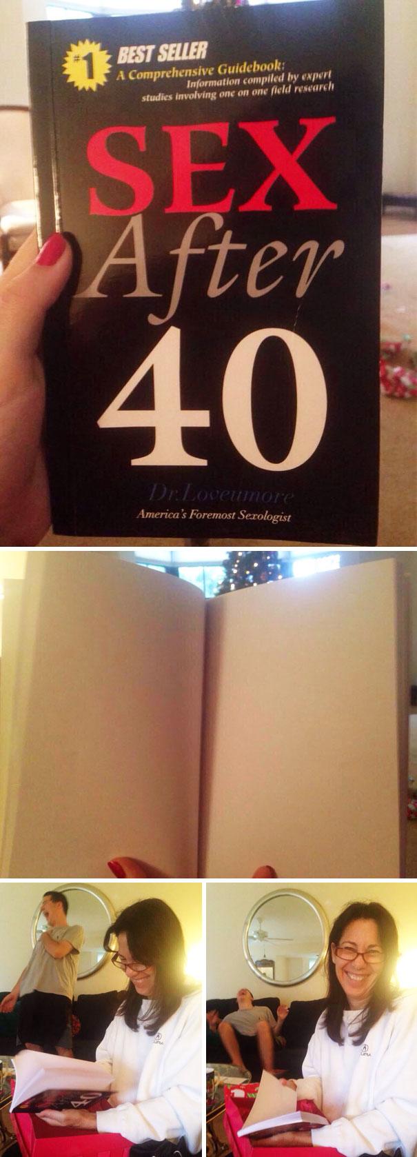"""Sex After 40"" Book Prank"