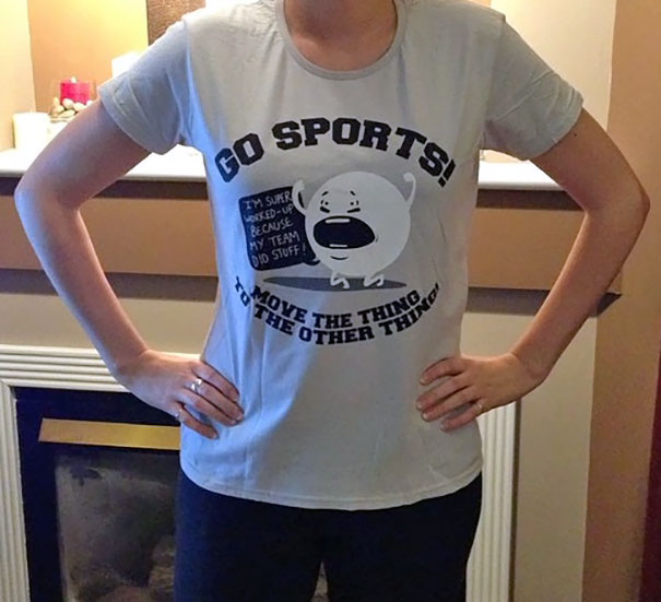 Husband Bought Me A New T-Shirt To Wear When I Go Sporting