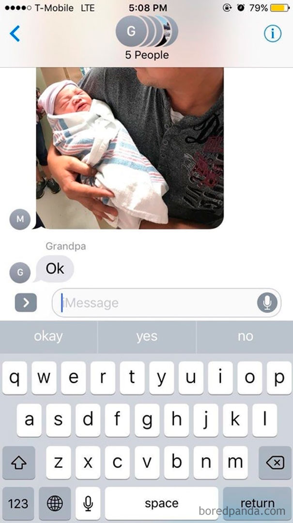 Aunt Gave Birth Yesterday And Grandpa Was Very Excited
