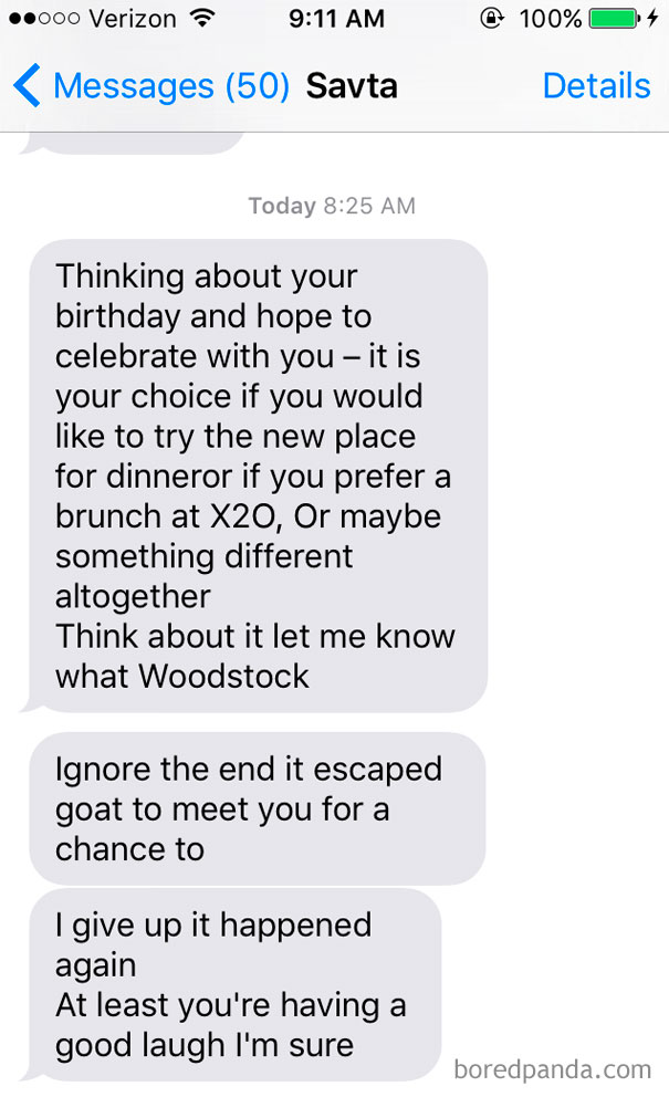 My Grandma Wants To Take Me Out For My Birthday