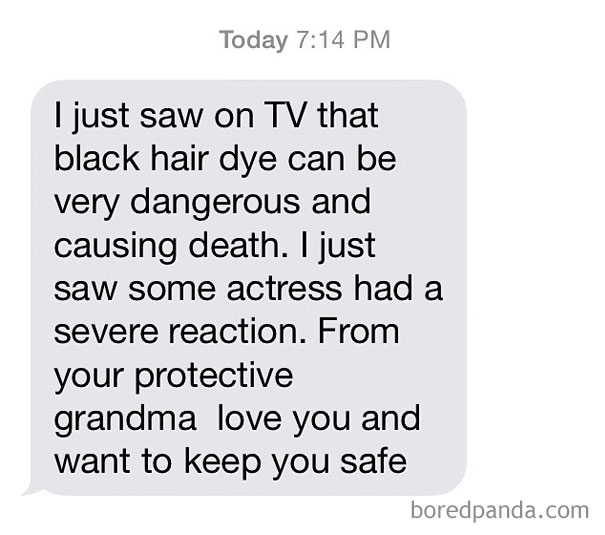 Grandma Is Just Keeping You Safe