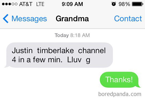 My Grandma Keeps Me Updated On Important Things