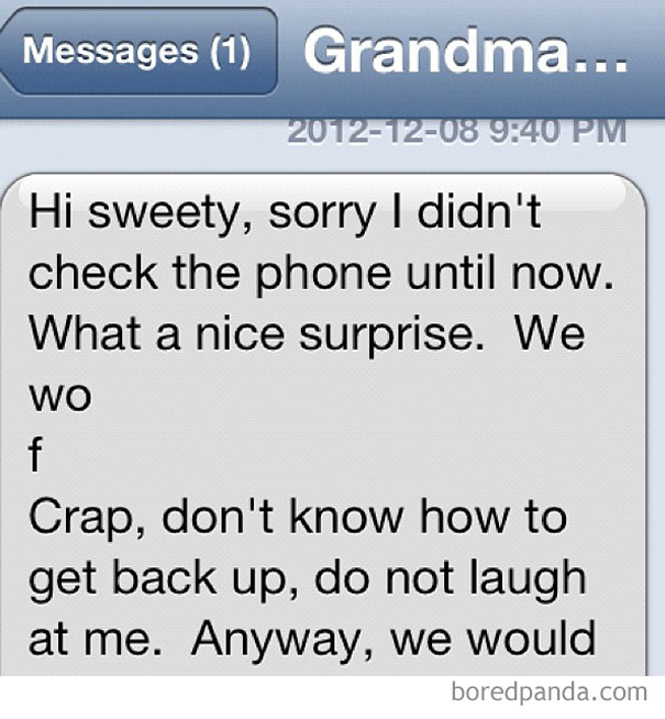 My Grandma Trying To Text
