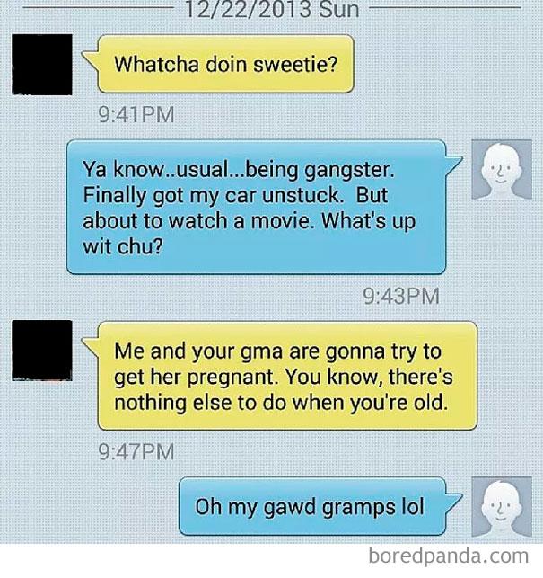When Grandparents Are Bored