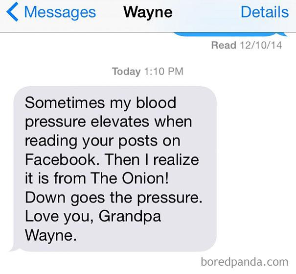 Watch Your Blood Pressure Grandpa Wayne