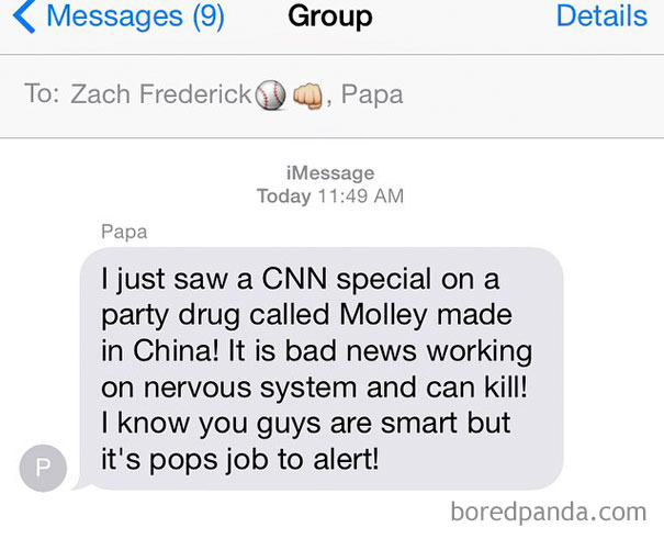 Literally Forever Looking Forward To Reading And Getting A Laugh From The Daily Texts I Get From My Grandpa. He Loves Him Some CNN
