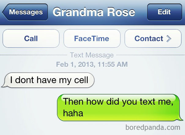 That One Time My Grandma Ever Texted Me