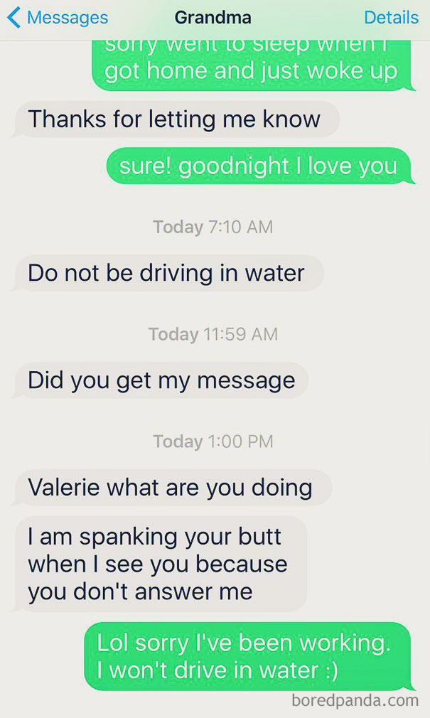 Never Too Big For A Spankin From Your 76 Year Old Grandmother