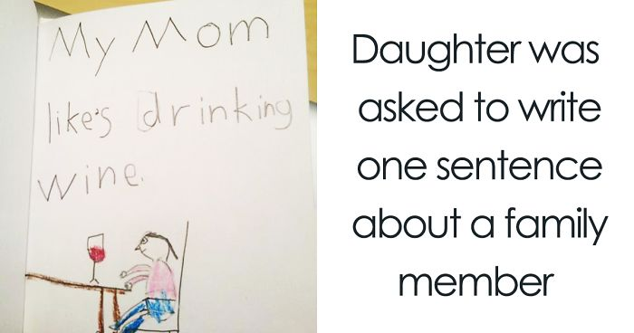 18 Times Kid Drawings Revealed Too Much About Their Parents Bored