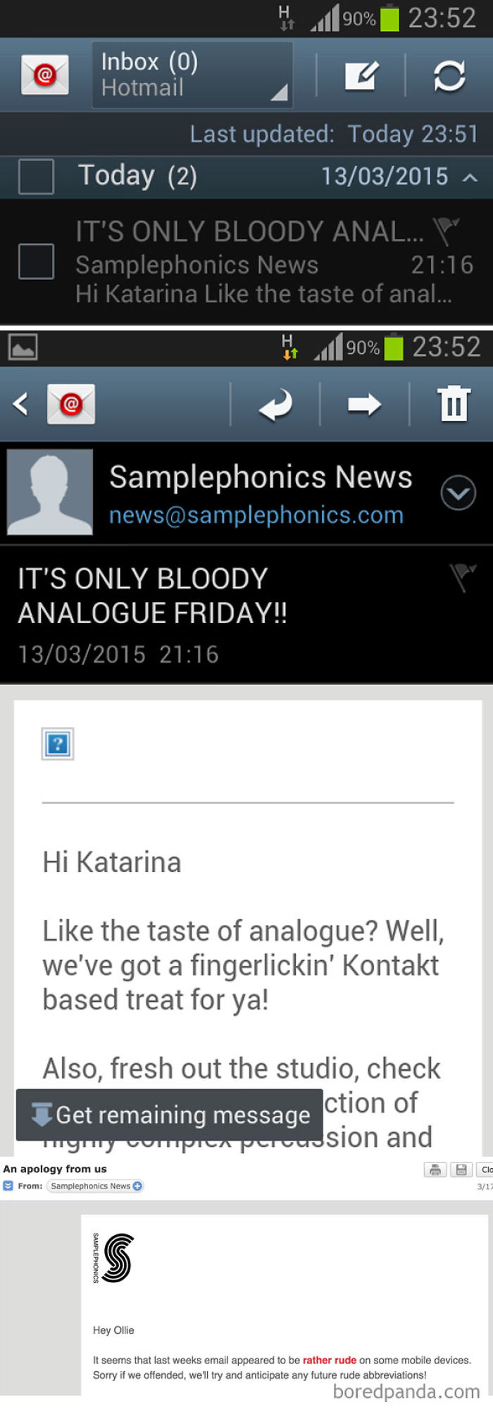 An Unfortunate Email Subject