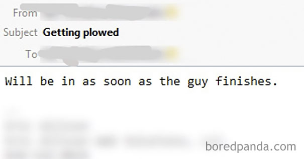 We Got A Snowstorm Last Night. My (Female) Boss's Email Probably Shocked A Few People In Our Socal Office