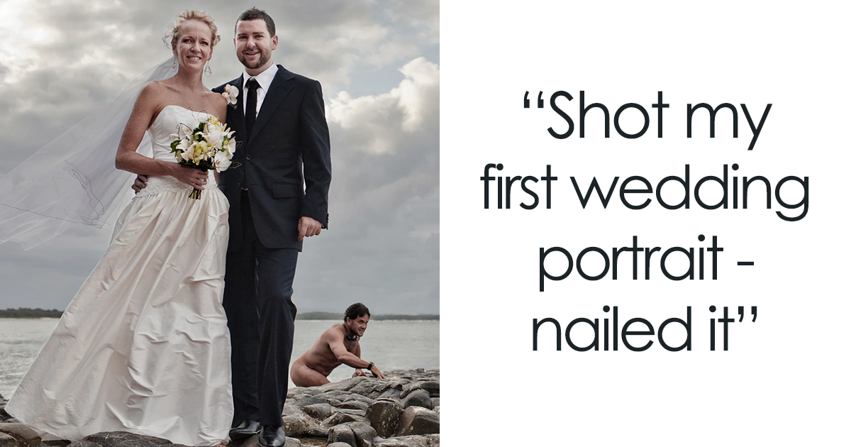 58 Times Wedding Photos Were Photoed So Well It Made Newlyweds Of Laughter When They Saw The Bored Panda