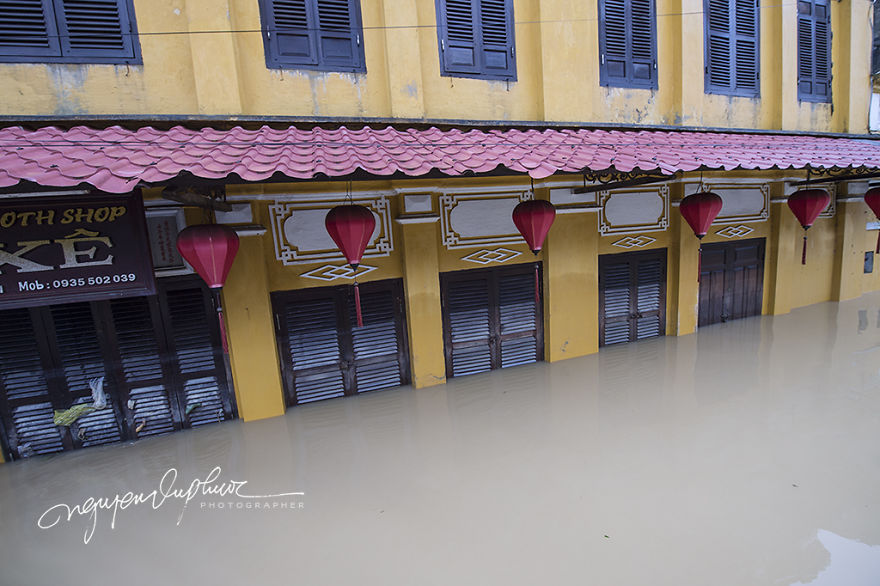 Flooding In Hoi An, The World Heritage Site Of Vietnam
