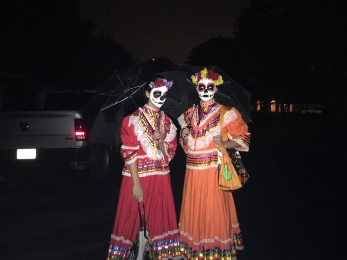 My Friend And I Do Day Of The Dead! Mostly From Materials We Had, Cost About 2 Bucks Each