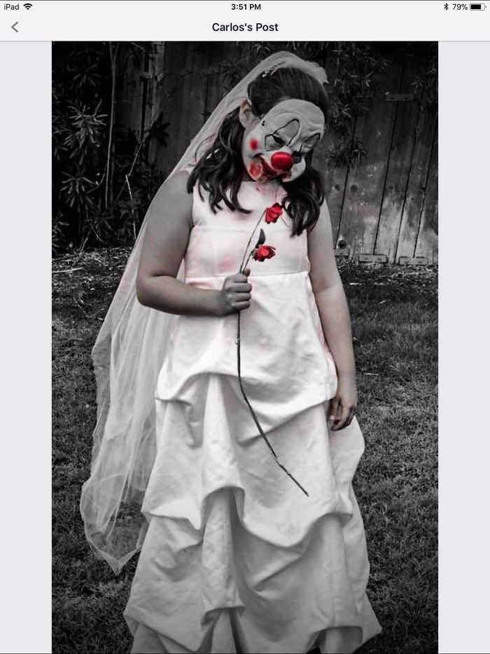 My Granddaughter Wanted To Be Clown Bride