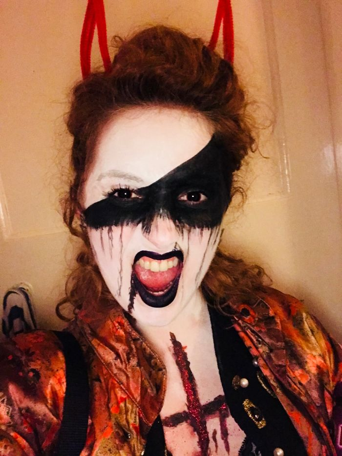I Went As An Indistinct Demon... Even My Own Reflection Shocked Me A Couple Of Times!!
