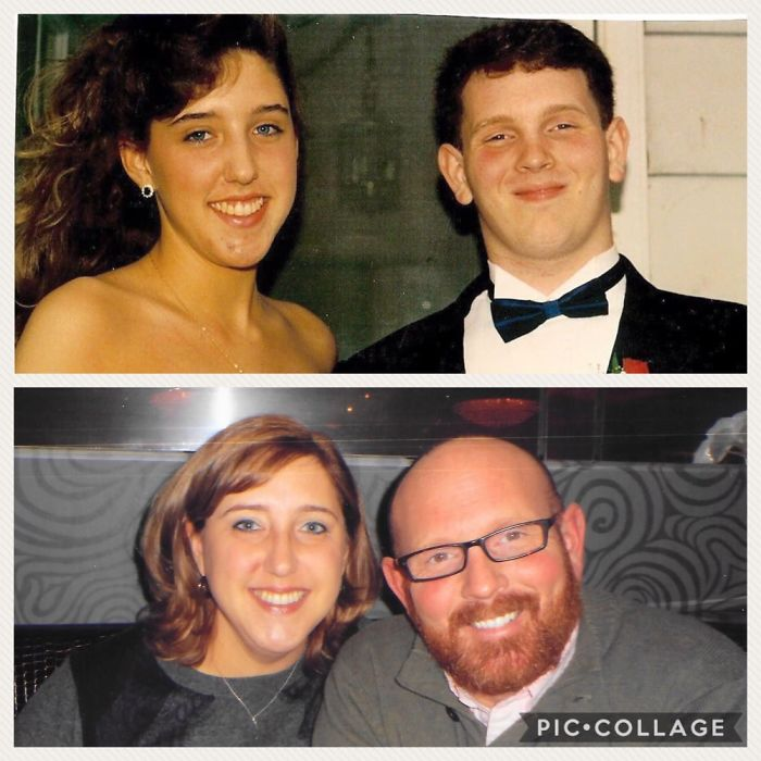 24 Years Have Flown By-Senior Prom 1991 Vs 20th Anniversary Dinner 2015.