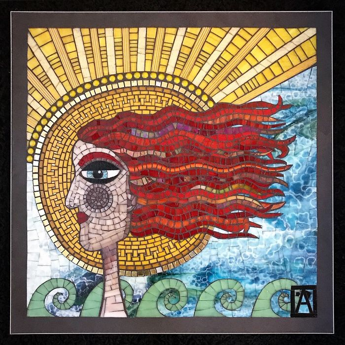 """I Show The Process Of Creating Mosaic Art With My Piece Named """"Onshore Annie"""""""