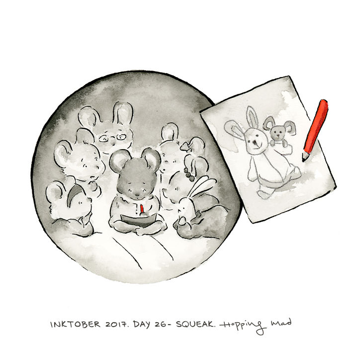 Day 26 – Squeak (Inspired By The Animation Ernest Et Celestine)