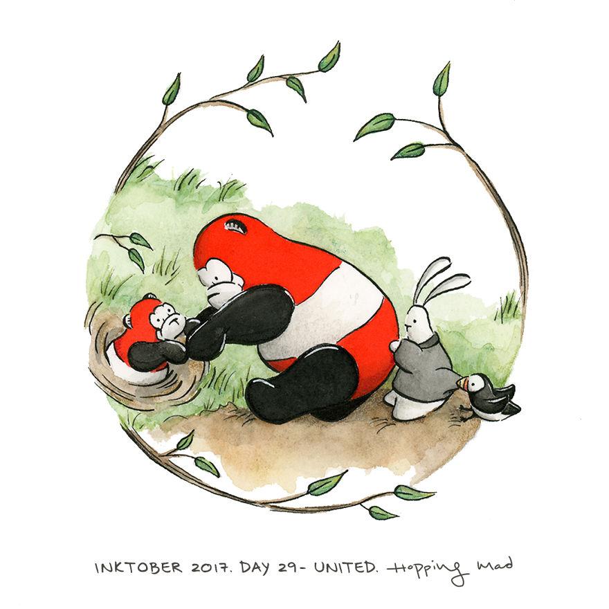 Day 29 - United (My Interpretation Of My Favorite Winnie The Pooh Scene)