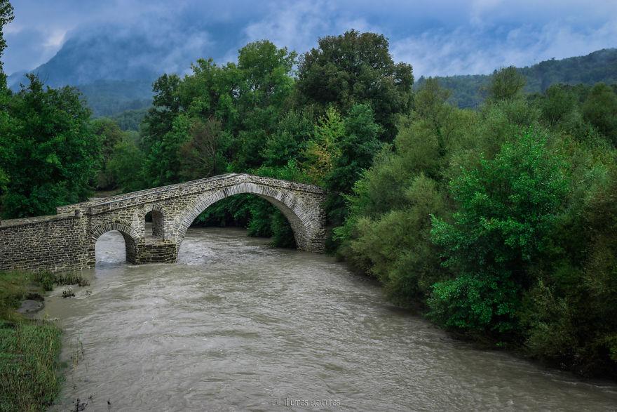 Γέφυρα Ζιάκας, Γρεβενά. Χτισμένο γύρω στο 1900