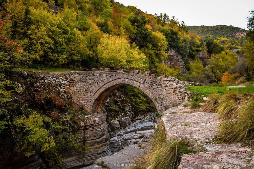 Papingo Bridge, Ioannina. Built 1854