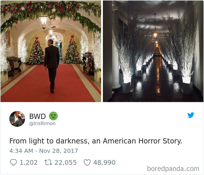 melania trump white house christmas decorations reactions - 2017 White House Christmas Decorations